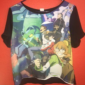 Voltron Women's Small Cropped Shirt